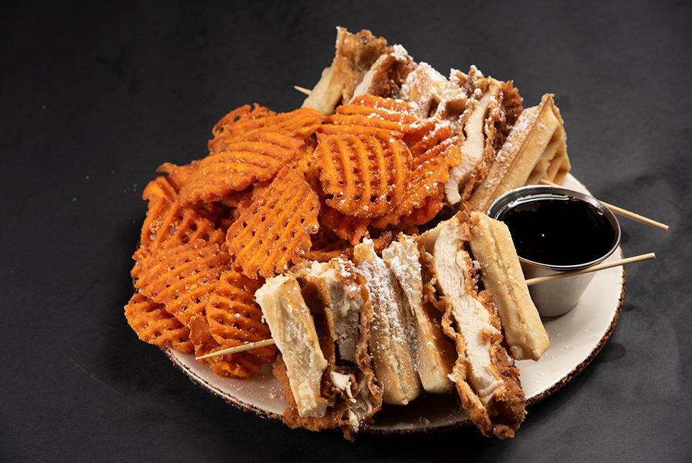 Chicken _ Waffle Sandwich